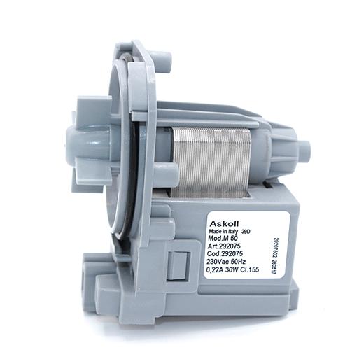 Насос (помпа) зливу води PMP Askoll 30W M 50 (292075) для пральних машин Ariston, Indesit, AEG, Electrolux, Zanussi, Bosch, Siemens