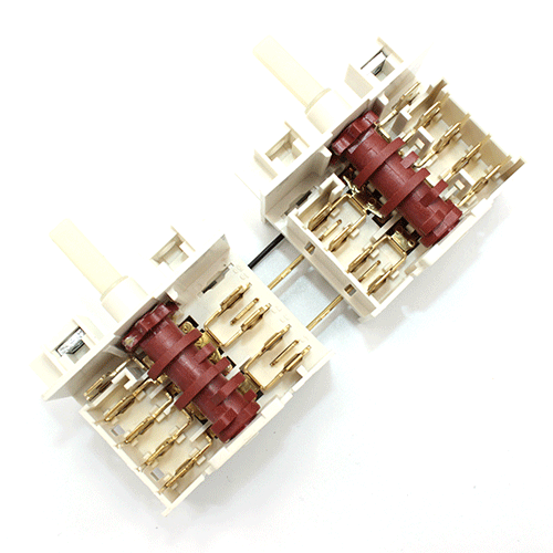 Сдвоенный переключатель семипозиционный Dreefs 5HE/555  стеклокерамических и чугунных конфорок электроплит Gorenje