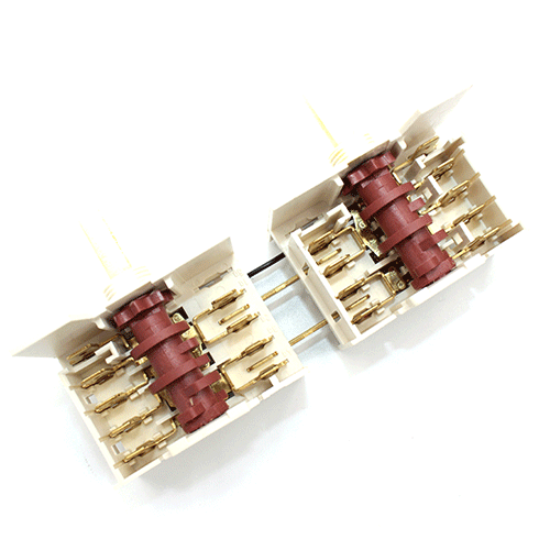 Сдвоенный семипозиционный переключатель  Dreefs 5HE/571  стеклокерамических и чугунных конфорок электроплит Gorenje