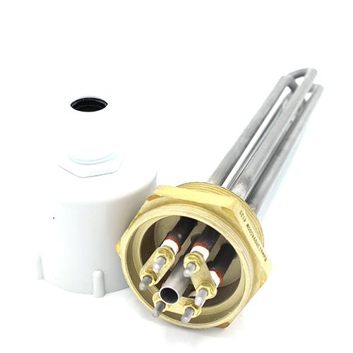 Блок ТЭН Kawai прямой тройной 4500W/380V 2 дюйма резьба для котлов, систем отопления и подогрева воды