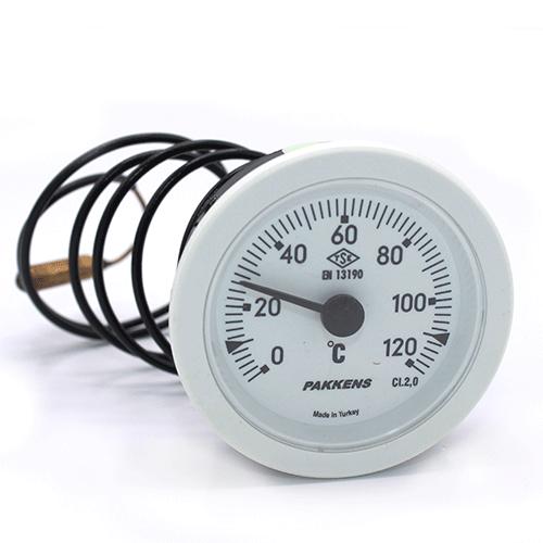 Капілярний термометр Pakkens діаметром 52 мм 120 °C 1 метр