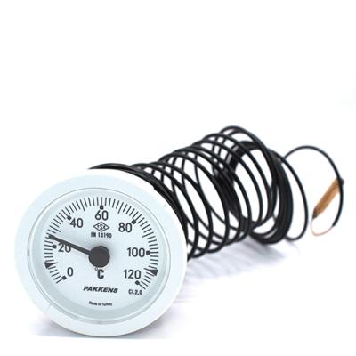Капиллярный термометр Pakkens диаметром 52 мм 120 °C 2 метра