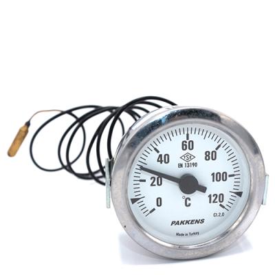Капиллярный термометр Pakkens диаметром 60 мм 120 °C 1 метр