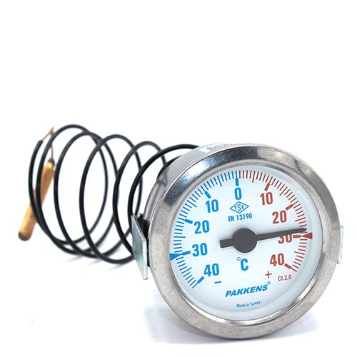 Капілярний термометр Pakkens діаметром 60 мм +/-40 °C 1 метр