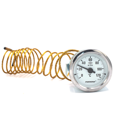 Капиллярный термометр Pakkens диаметром 60 мм 120 °C 2 метра