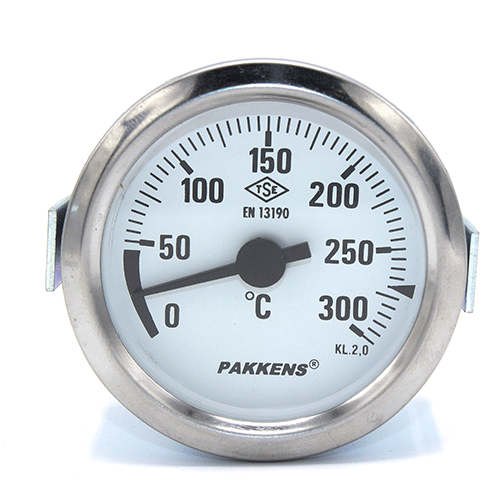 Капиллярный термометр Pakkens диаметром 60 мм 300 °C 2 метра