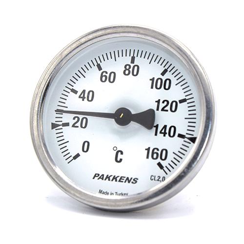 Термометр патронного типа  Pakkens 5 см диаметром 63 мм 160 °C для автоклавов, коптилок, сауны, бани, котлов, буферных емкостей, систем отопления