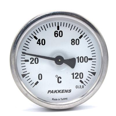 Термометр патронного типа  Pakkens 10 см диаметром 63 мм 120 °C