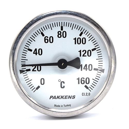 Термометр патронного типа Pakkens 10 см диаметром 63 мм 160 °C