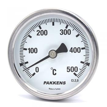Термометр патронного типа  Pakkens 10 см диаметром 63 мм 500 °C