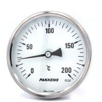Термометр патронного типа Pakkens 10 см диаметром 100 мм 200 °C