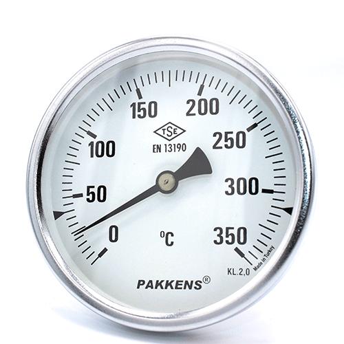 Термометр патронного типу  Pakkens 10 см діаметром 100 мм 350 °C для тандиров, мангалов, гриль, барбекю, помпейскої печі, печі для піцци, руської печі