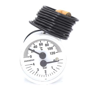 Термоманометр Pakkens диаметр 40 мм 120 °C  0-4 бар