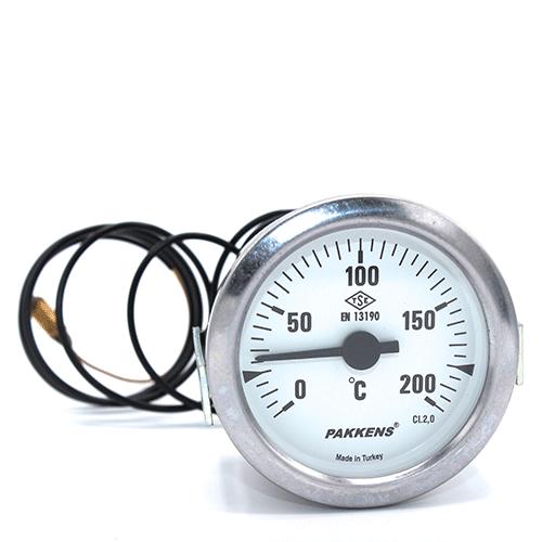 Капілярний термометр Pakkens діаметром 60 мм 200 °C 1 метр