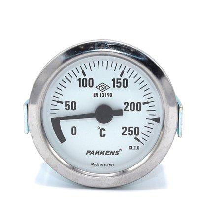 Капиллярный термометр Pakkens диаметром 60 мм 250 °C 2 метра