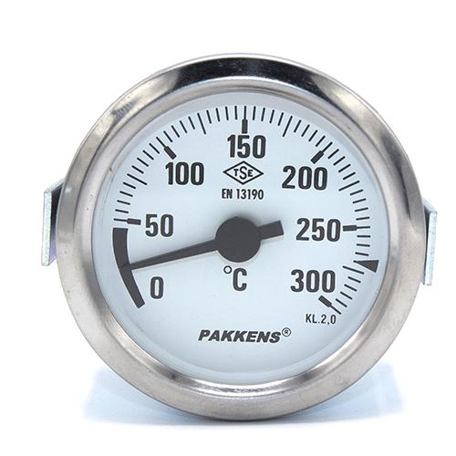 Капілярний термометр Pakkens діаметром 60 мм 300 °C 2 метра для тандирів, мангалів, гриль, барбекю, помпейскої печі, печі для піцци, руської печі, фритюрниць