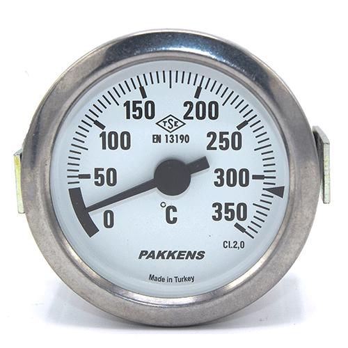 Капілярний термометр Pakkens діаметром 60 мм 350 °C 2 метра для тандиров, мангалов, гриль, барбекю, помпейскої печі, печі для піцци, руської печі, фритюрниць