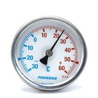 Термометр патронного типу  Pakkens 5 см діаметром 63 мм -30/+ 60 °C