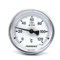 Термометр патронного типу  Pakkens 5 см діаметром 63 мм 120 °C