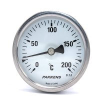 Термометр патронного типу  Pakkens 10 см діаметром 63 мм 200 °C
