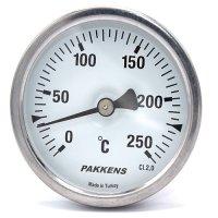 Термометр патронного типу  Pakkens 10 см діаметром 63 мм 250 °C