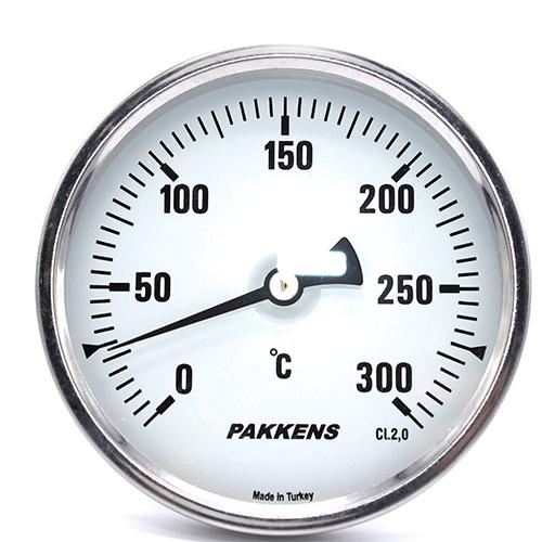 Термометр патронного типу  Pakkens 10 см діаметром 100 мм 300 °C для тандиров, мангалов, гриль, барбекю, помпейскої печі, печі для піцци, руської печі