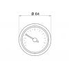 Капиллярный термометр Pakkens диаметром 60 мм 160 °C 2 метра для автоклавов, коптилок, сауны, бани, котлов, буферных емкостей, систем отопления