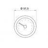 Капиллярный термометр Pakkens диаметром 52 мм +/-40 °C 2 метра для холодильного, морозильного оборудования