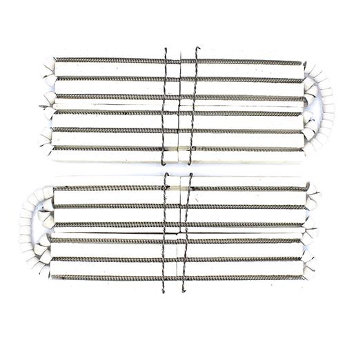 Ремонтний комплект з двох керамічних пластин зі спіраллю виведення вниз для промислових чавунних нагрівальних поверхонь
