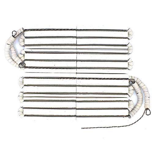 Ремонтний комплект з двох керамічних пластин зі спіраллю виведення в сторону для промислових чавунних нагрівальних поверхонь